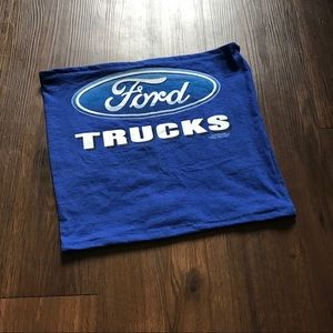 Blue ford tube top